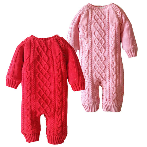 Knitted Winter Jumpsuit for Baby Boy or Girl