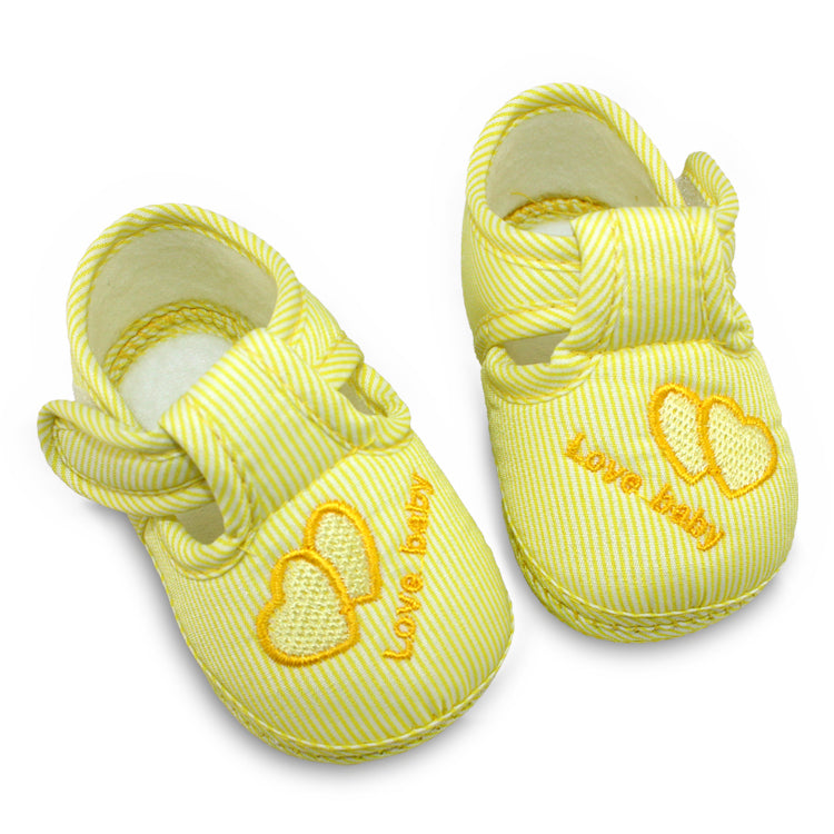 Delicate Striped Shoes for Baby Boy or Girl