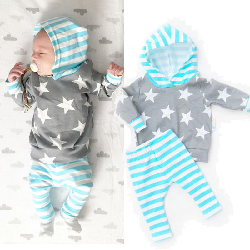 Unisex Star&Stripes Outfit Set for Baby