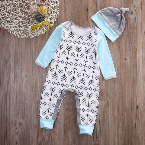 Unisex Arrows Jumpsuit + Hat for Baby