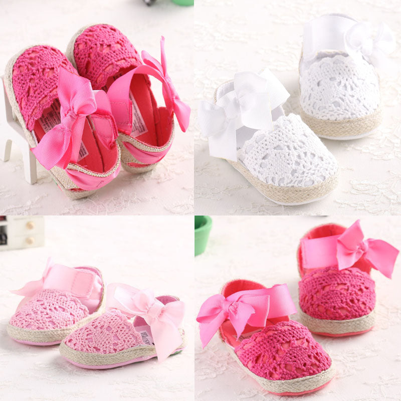 Lovely Knitted Soft Sole Shoes for Baby Girl
