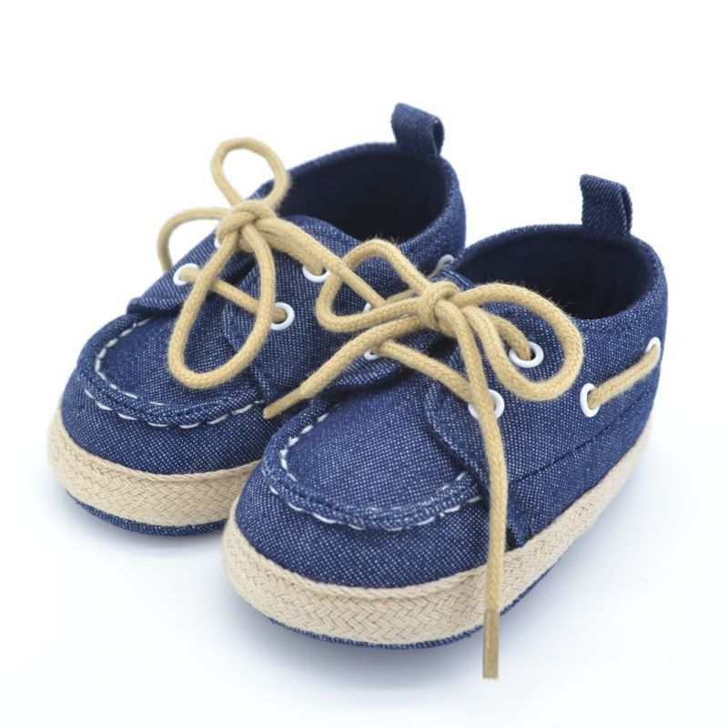 Unisex Canvas Shoes with Laces for Baby