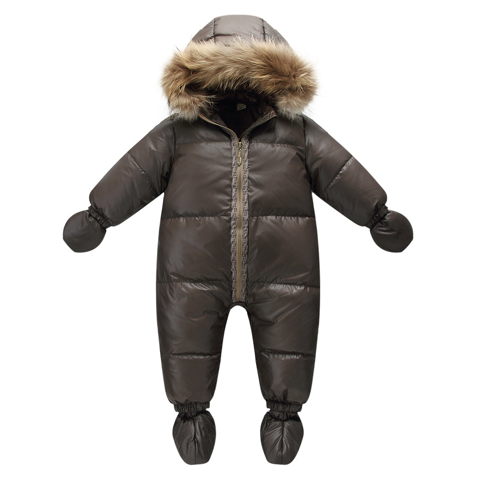 Warm Duck Down Snowsuit for Baby Boys