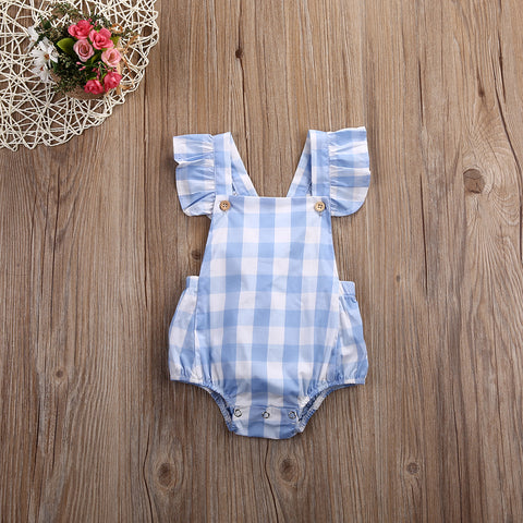 Baby Girl Summer Ruffled Romper