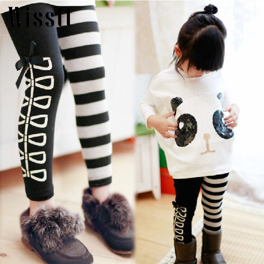 Zebra Bow Skinny Pants for Girls