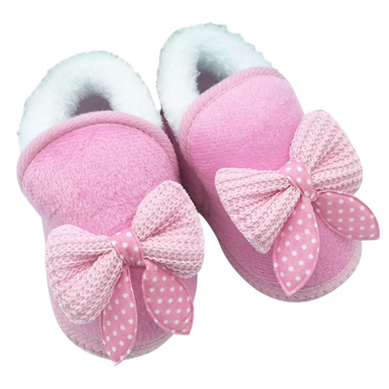 Baby Girl Soft and Warm Pre-walker Shoes