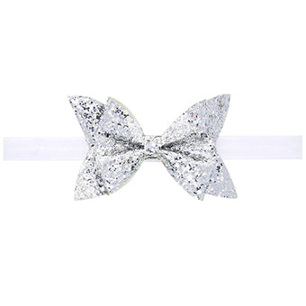 Glittery Bow Headband for Baby Girls