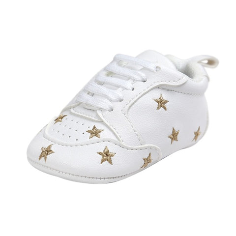 Unisex Shoes with Stars for Baby Boy or Girl