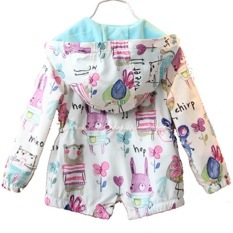 Spring Casual Hooded Jacket for Girl