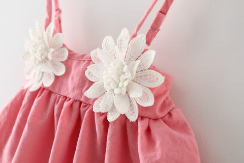 Summer Dress for Baby Girl with Flower Details