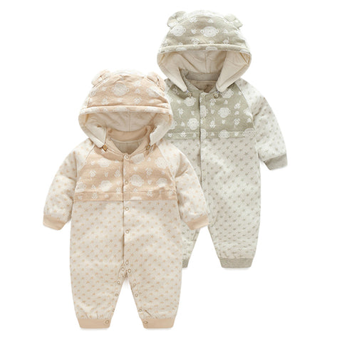 Organic Cotton Warm Jumpsuit for Baby Boy or Girl