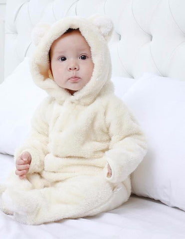 Soft Jumpsuit with Hoodie