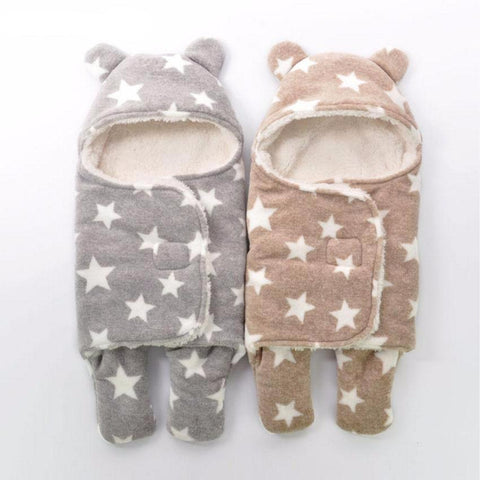Warm Winter Sleeping Bag with Stars for Baby
