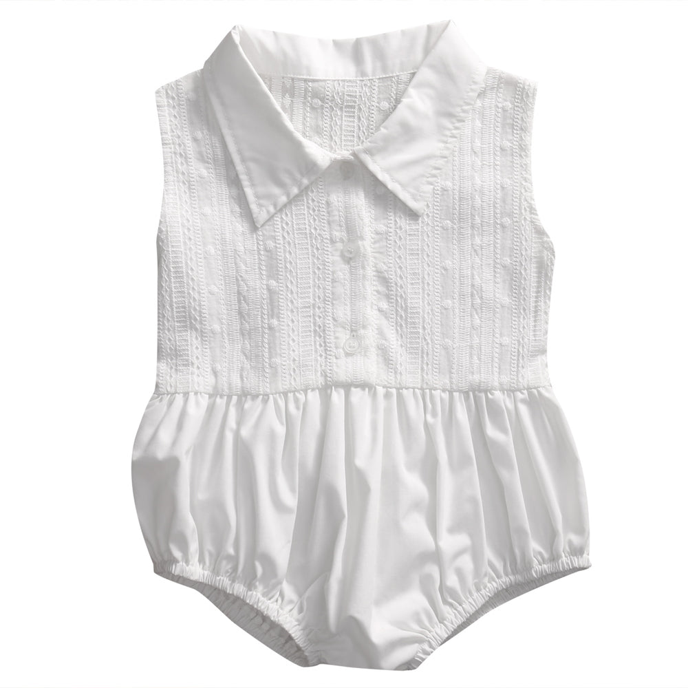 Delicate Sleeveless Romper for Toddler/Girl