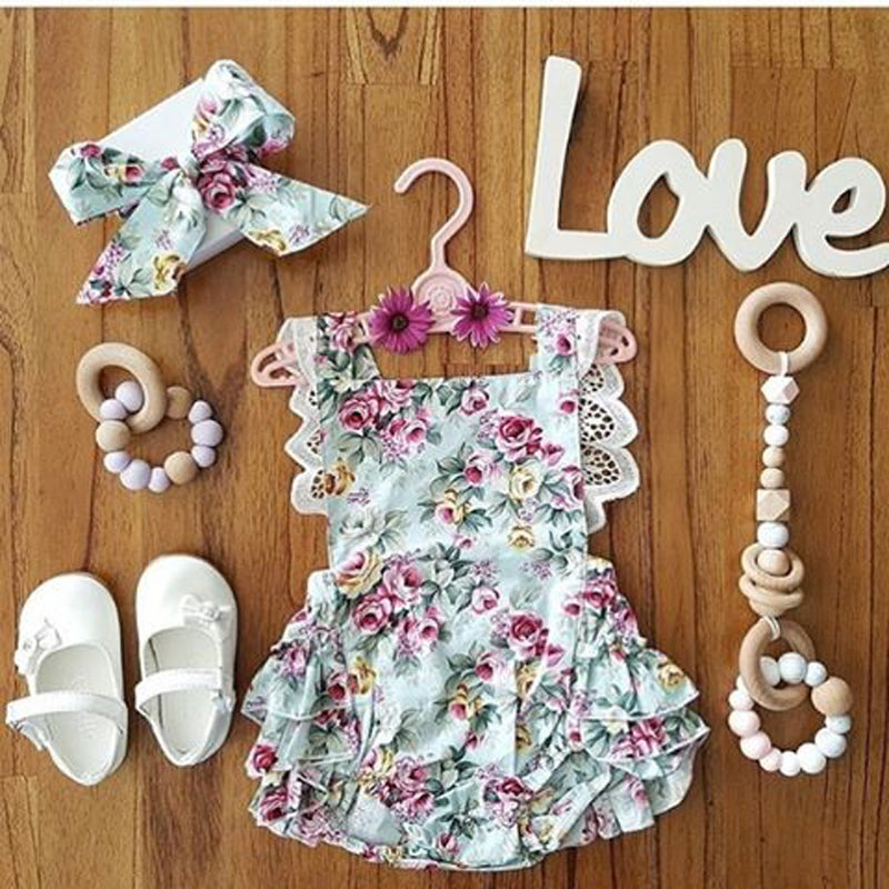 Floral Baby Girl Outfit 2017 - Newborn