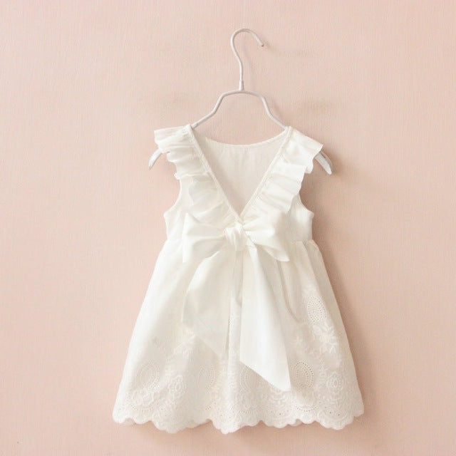 Delicate Dress with Bow for Toddler/Girl