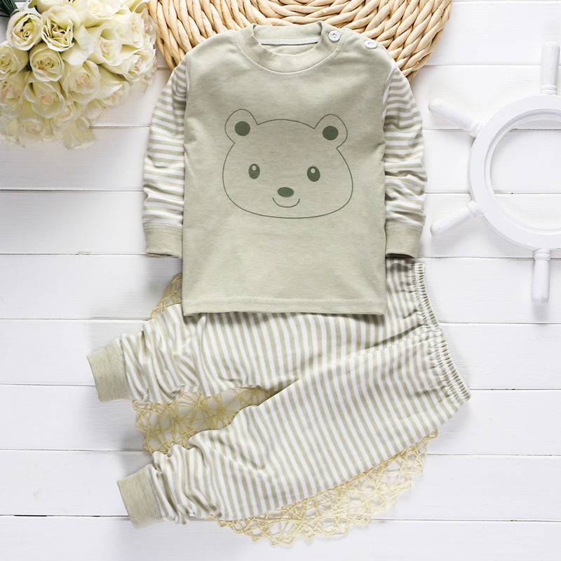 Comfy 2 Piece Striped Set for Girl or Boy