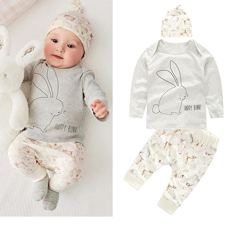Adorable Unisex 3Piece Set for Baby