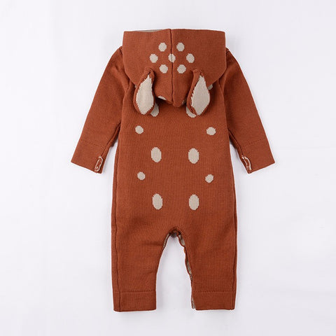 Knitted Cotton Animal Jumpsuit