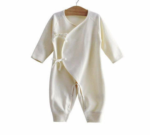 Organic Cotton Natural Jumpsuit for Baby Boy or Girl