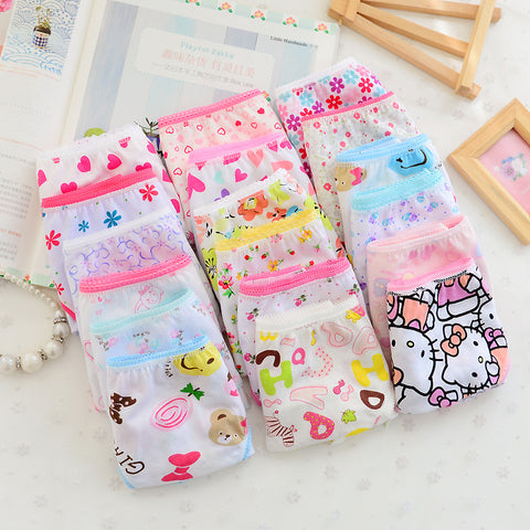 6 Piece Fancy Cotton Underwear Pack for Girls
