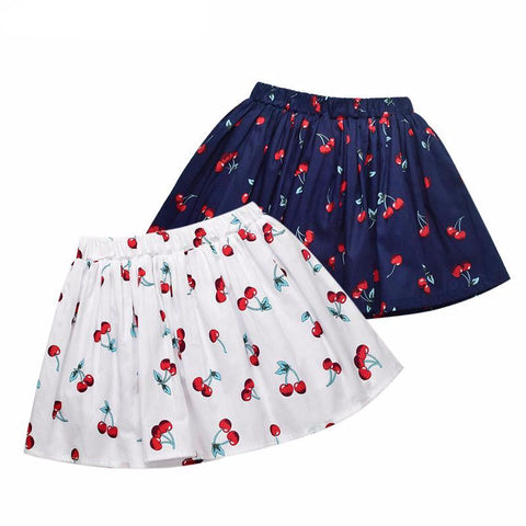 Cherry Print Skirts for Girl