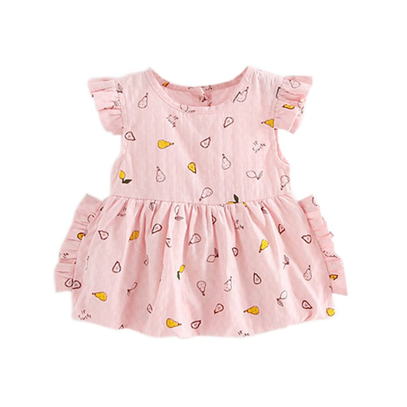 Lovely Baby Girl Fruit Printed Dress