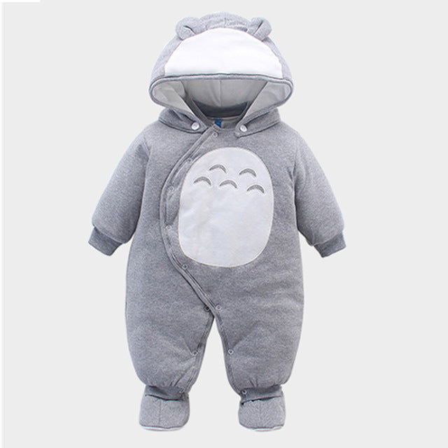 Comfortable Baby Hooded Jumpsuit