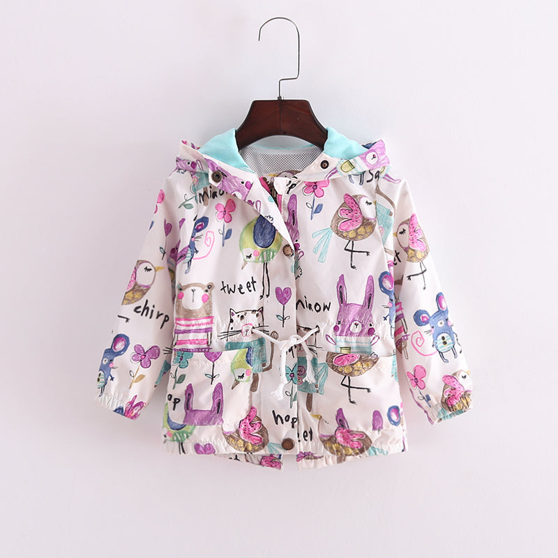 Cute Windbreaker Jacket for Girl
