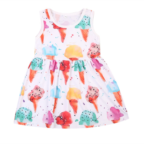 Icecream Light Dress for Baby Girl/Toddler