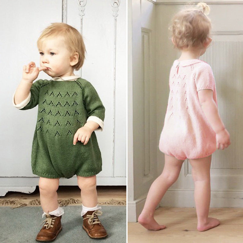 Adorable Cotton Knitted Romper for Boys or Girls
