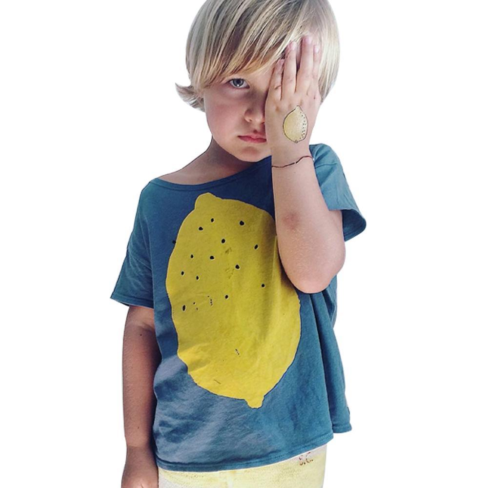 Fashion T-shirt Big Lemon Pattern for Toddler/Boy
