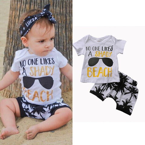2 Piece Set T-shirt + Short Pants for Baby Boy