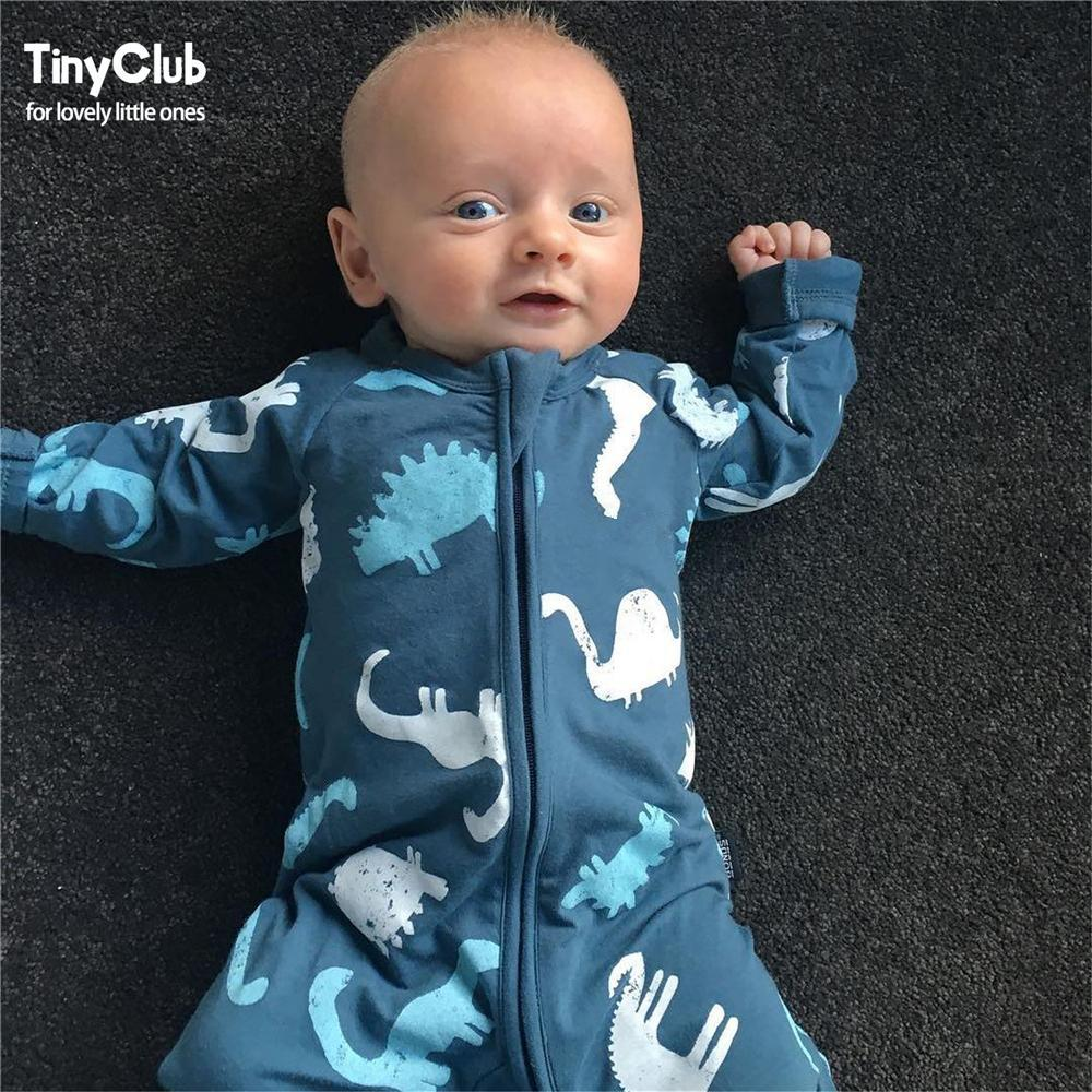 Long Sleeves Dinosaur Jumpsuit for Baby Boy