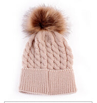 Unisex Pom Pom Knitted Hat for Baby