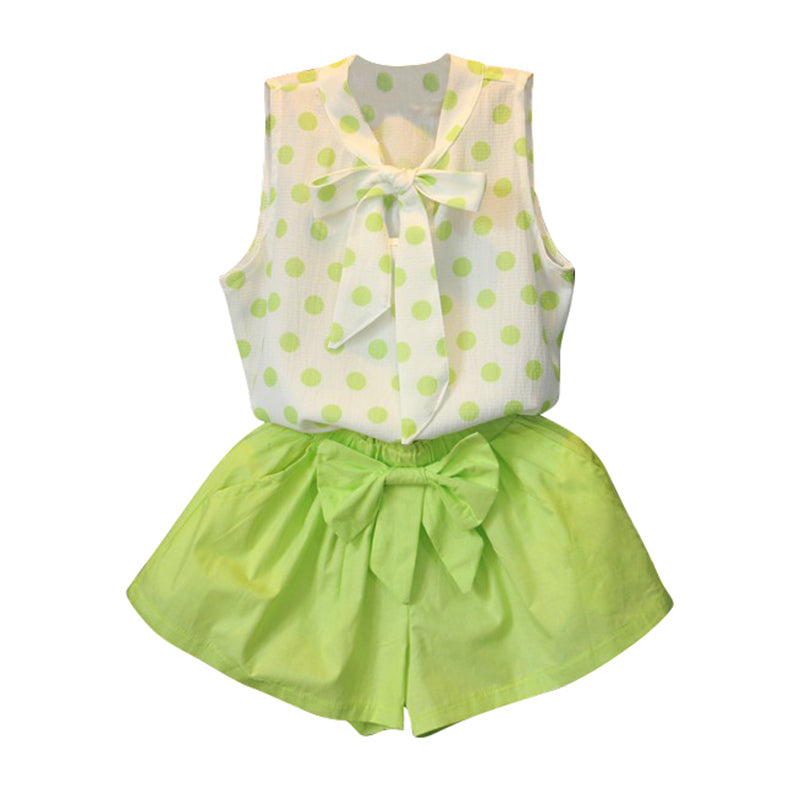 Summer Classy Toddler/Girl Set with Dots