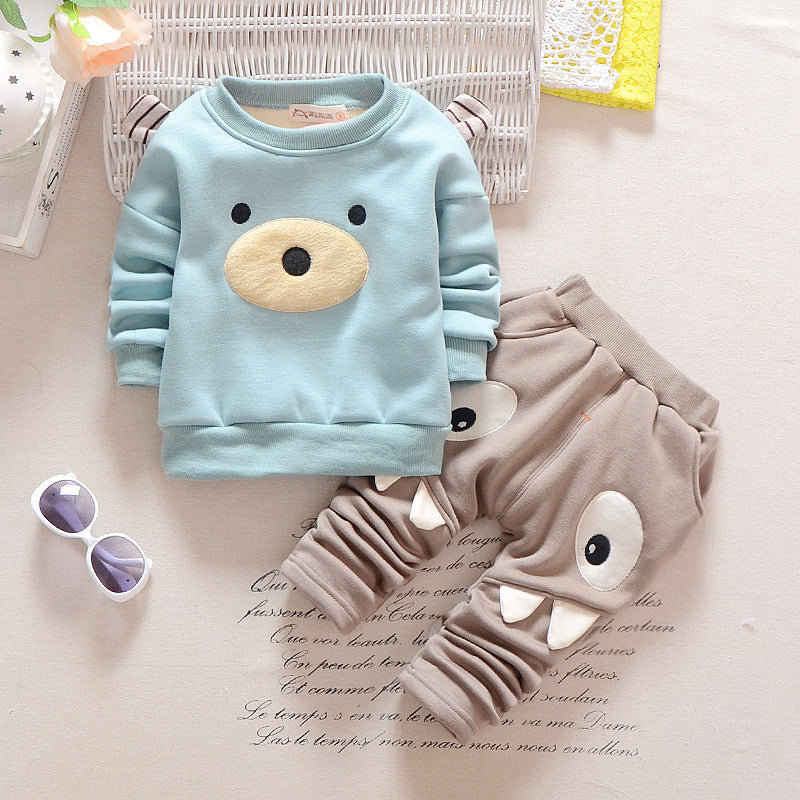 Thick 2 Piece Set Sweatshirt +Pants for Boy or Girl
