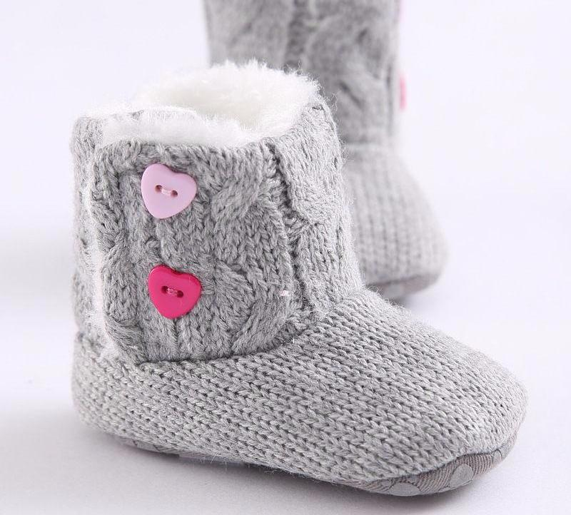 Warm Boots with Girly Details for Baby Girl