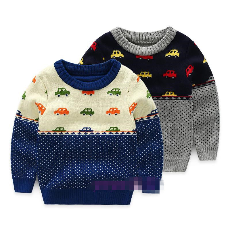 Warm Knitted Sweater for Boy