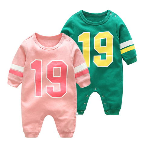Twins, Baby Boy or Girl Football Romper