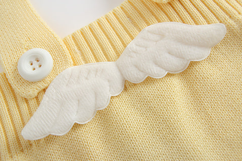 Angel Wings Knitted Baby Romper