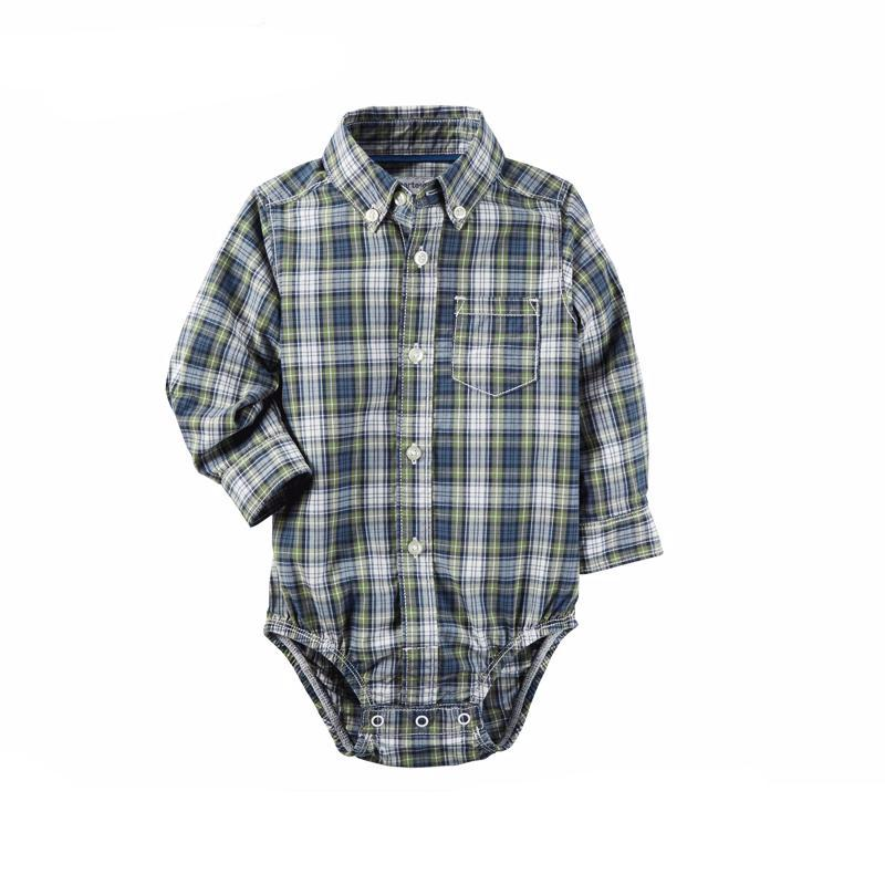 Plaid Shirt Bodysuit for Baby Boy