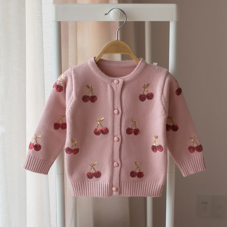 Cherry Cardigan for Toddler