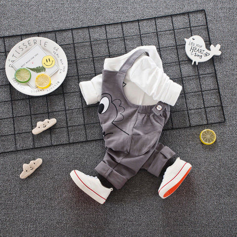 Cute 2 Piece Set with Dinosaur for Baby Boy or Girl