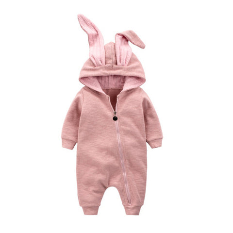 Cute Bunny Ear Jumpsuit for Babies