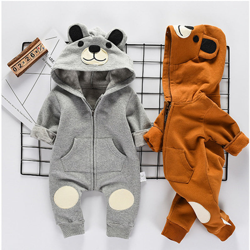 Adorable Bear Jumpsuit for Baby Boy or Girl
