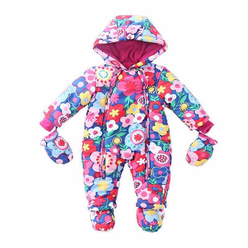 Colored Coverall Snowsuit for Baby Boy or Girl