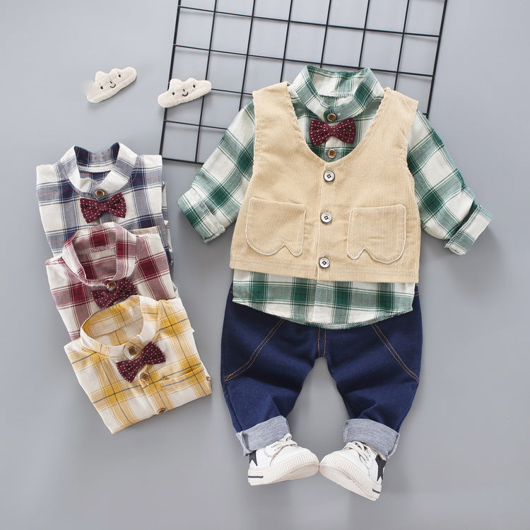 British Style Outfit Set for Boy