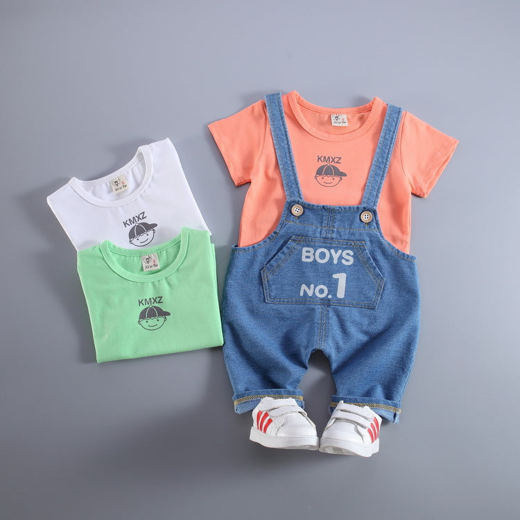 2 Piece Adorable Suspenders Set for Baby Boy/Toddler