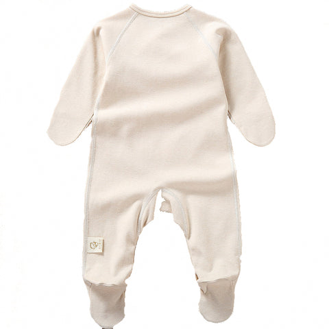 Organic Cotton Jumpsuit with Footies for Baby Girl or Boy
